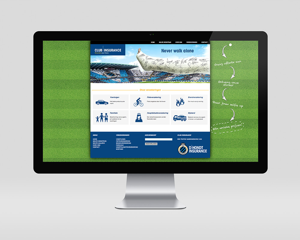 Club Insurance website