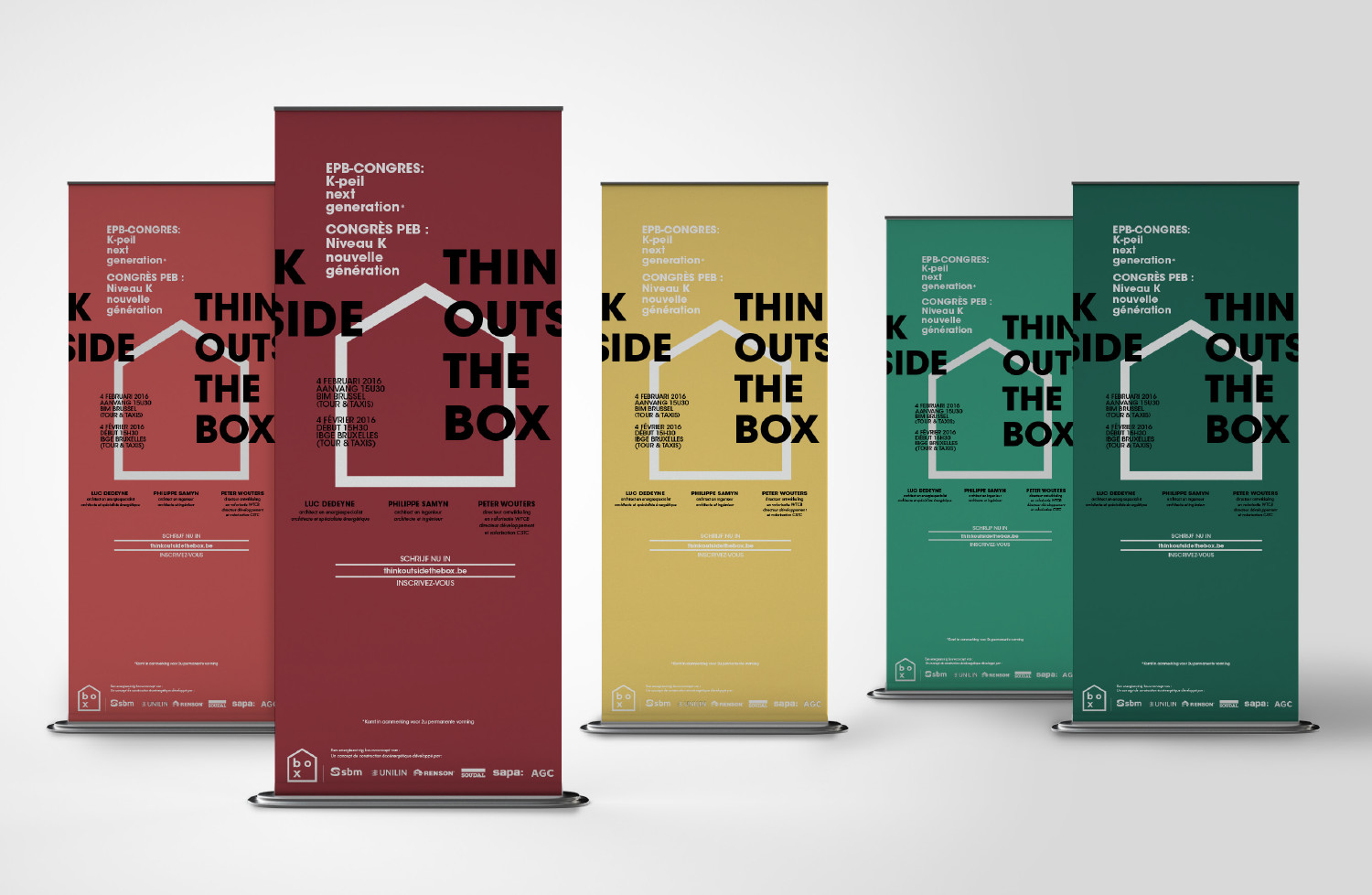 Roll-up banners The Box
